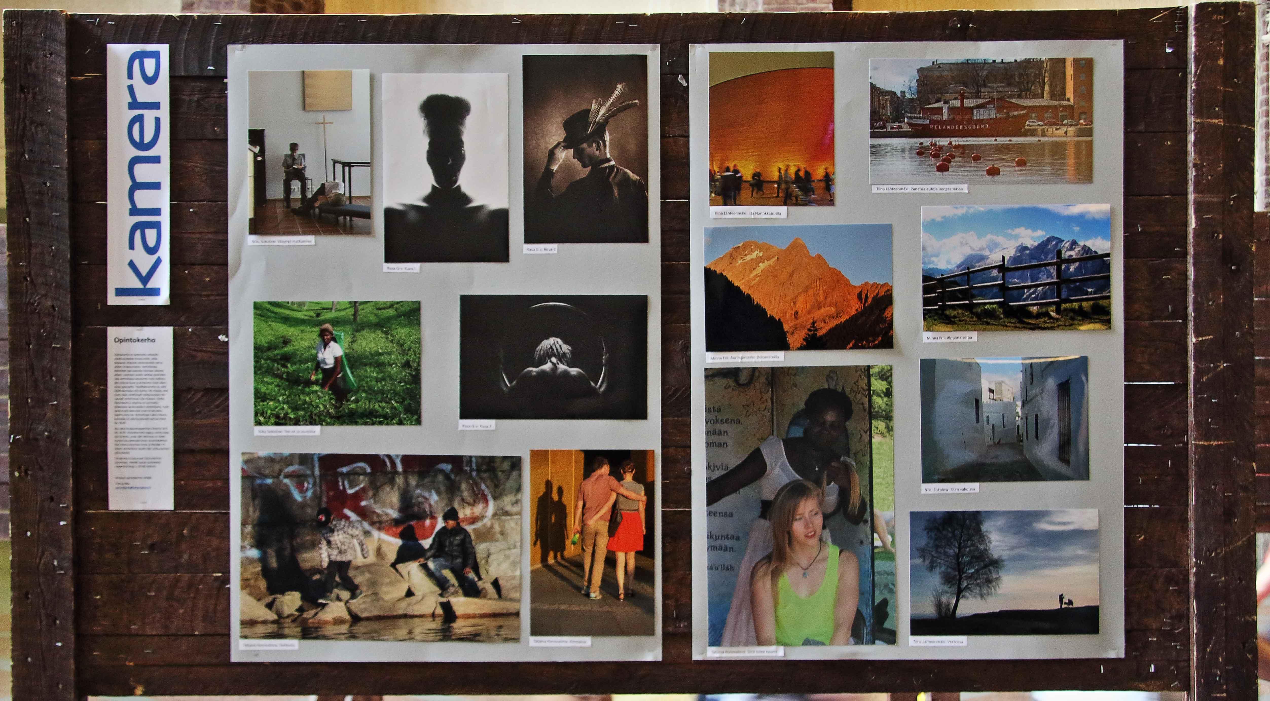 Opintokerhon kuvia AITA 2014 WALL-näyttelyssä. Kuva: Tiina Lähteenmäki